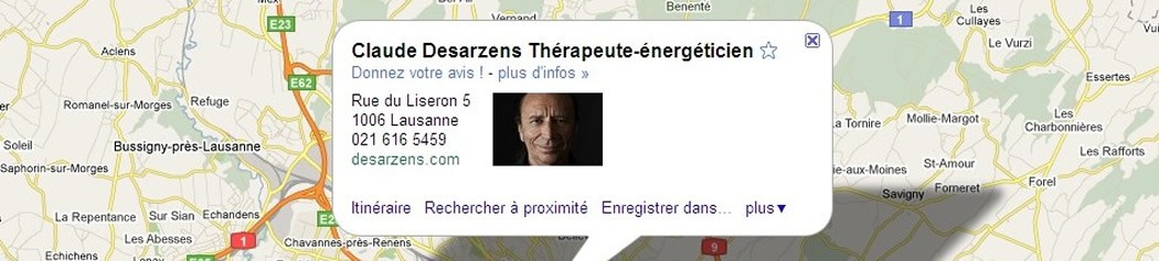 Claude Desarzens sur Google map